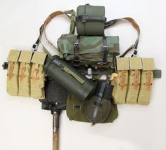 Reproduction field equipment package for WWII German Heer and Waffen SS troops armed with assault rifles. Military Gear, Military Equipment, Military History, Ww2 Uniforms, German Uniforms, Military Uniforms, German Soldiers Ww2, German Army, Badges