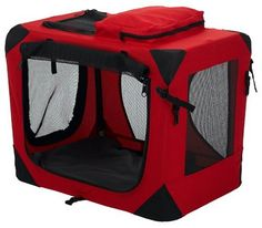 Pet Gear Home 'N Go Deluxe Soft-Sided Pet Crate, Small, Red Poppy *** Review more details here : Dog crates