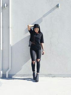 Jeans preto Tudo preto