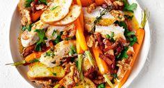 geroosterde-wortelsalade met kip en dragonboter