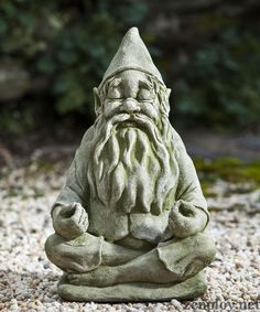 Meditating garden gnome statue, would fit nicely with the Buddha