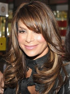THICK layered hair - Paula Abdul