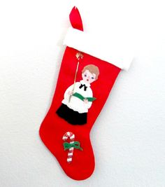 Hey, I found this really awesome Etsy listing at https://www.etsy.com/listing/250598594/vintage-christmas-stocking-1960s-choir