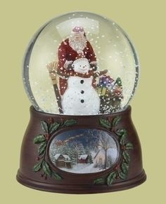 """Roman Christmas Musical Revolving Santa Claus and Snowman Snow Globe Glitterdome Plays """"Have Yourself A Merry Little Christmas"""" Dimensions: x x 7 inches. Made by Roman. Made by Roman Christmas Snow Globes, Merry Christmas To All, Beautiful Christmas, Christmas Glitter, Snowman Snow Globe, Christmas Snowman, Chrissy Snow, Musical Snow Globes, Build A Snowman"""