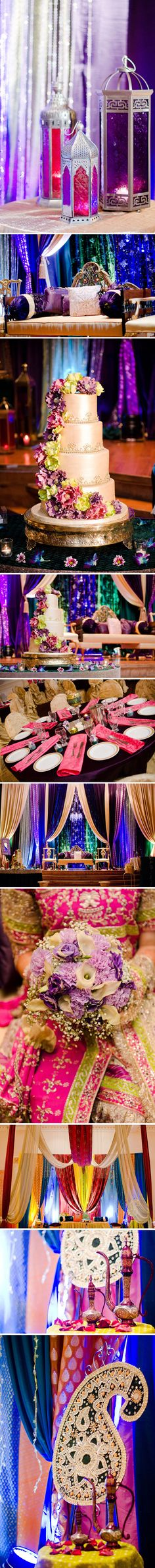 "Lavish Dulhan...love these colors! | for more wedding decor ideas, follow my ""Put a ring on it, baby"" board!"