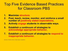 Behavior Einsteins, Positive Behavior Support