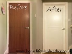 Home Life With Heather: How To Add Panels and Paint Hollow Core Doors