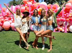 """Martha Hunt from Coachella 2017: Star Sightings The supermodel joins Jasmine Tookes, Alessandra Ambrosio, Josephine Skriver and Romee Strijd at Victoria's Secret """"Sexy Little Things"""" launch."""