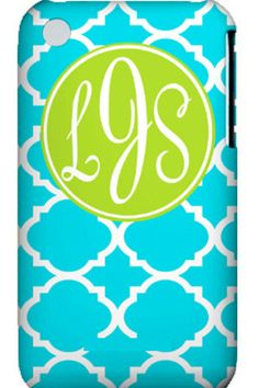 "Monogrammed cellphone cover $47. If only I had a ""cool"" phone to cover!"