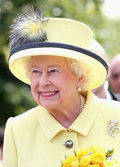 Queen Elizabeth, June 26, 2015 in Angela Kelly  the Queen's first new hat of 2015