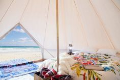 Sand Colored Vintage Style Bell Tent 16.5 feet by StoutTent. I would love to have this tent. It's gorgeous!
