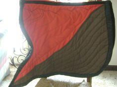 Bat Wing Saddle Pad Equine Style Two Toned by HoosierHorsemen, $60.00