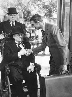 "Jimmy Stewart and Lionel Barrymore in ""It's A Wonderful Life"", 1946 Golden Age Of Hollywood, Hollywood Stars, Classic Hollywood, Old Hollywood, Hollywood Images, Old Movies, Vintage Movies, Great Movies, Classic Christmas Movies"