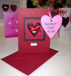 Handmade valentine's Day card.  make something special for your loved one.  #Hobbycraft #valentines #heart #papercraft #craft  http://direct.hobbycraft.co.uk/shop/valentine%27s-day