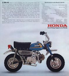 I have a Honda Monkey, it's pretty freakin' awesome Classic Honda Motorcycles, Honda Bikes, Vintage Motorcycles, Cars And Motorcycles, Honda 750, Scooters, Moto Quad, Cx 500, Japanese Motorcycle