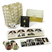 Enjoy all 6 seasons of Downton Abbey and 5 hours of brand-new bonus video! Keepsake box includes a working Downton Abbey pull bell, 6 coasters, The Costumes of Downton Abbey booklet, a 22-disc hardcover book plus a FREE market tote bag and tea sampler.