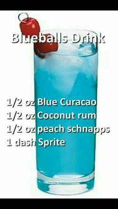 Cocktail with Blue Curacao, coconut rum, peach schnapps and sprite. Rum Cocktails, Liquor Drinks, Cocktail Drinks, Beverages, Peach Schnapps Drinks, Martinis, Bacardi Drinks, Funny Cocktails, Smirnoff