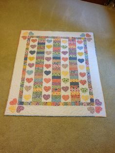 Hearts Aflutter Baby Quilt by Creationsbyweezie on Etsy, $125.00