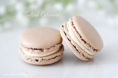 Salted caramel French macaron - sweet, salty and seriously good!