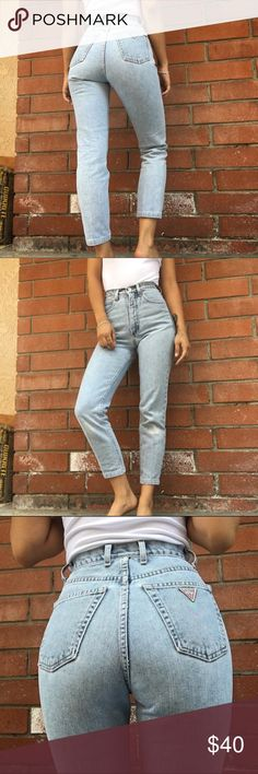 Vintage Guess Jeans Size 24. True to size. No stretch. Guess Jeans Skinny