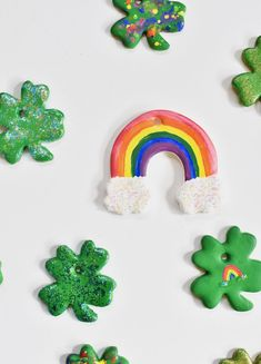 Feel The Luck Of the Irish With These DIY Clay Clover Charms