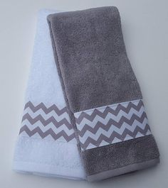 Chevron Bathroom Towels, Grey Chevron Towels, Bathroom Towel Decor, Soft  Cotton Towels, Trendy Decor, Housewarming, Gift Idea, Custom Towels