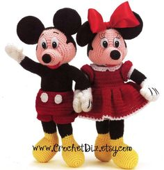 Disney Mickey and Minnie Mouse Dolls Crochet Patterns PDF