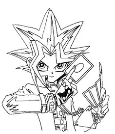 This time we will share Yu Gi Oh Coloring Pages with you. Does your child like the Yu Gi Oh anime? If your child likes Yu Gi Oh I think they will like this. Ninja Turtle Coloring Pages, Cartoon Coloring Pages, Coloring Pages To Print, Coloring Book Pages, Printable Coloring Pages, Coloring Sheets, Coloring Pages For Kids, Manga Anime, Pencil Drawings