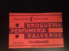 Papel secante de la Farmacia Valverde en Villarramiel