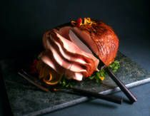 Slow Cooker Cola Ham  This easy crockpot ham recipe is very popular, made with fully cooked ham, brown sugar and mustard, and cola.  Cook Time: 8 hours  Ingredients:  1/2 cup brown sugar  1 tsp dry mustard  1/4 cup cola (Coca Cola, Dr. Pepper, etc.)  3 to 4 pound pre-cooked ham