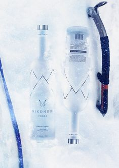Inspired by the mountain tribes of the great Himalayas, NIXONBUI Vodka is premium organic vodka made from the finest grains and purest gracial water.With a touch of Himalayan minerals, this Vodka is smooth with an edge.Mockup of Nixon Bui Vodka, fr… Alcohol Bottles, Vodka Bottle, Organic Vodka, Packaging Design, Branding Design, Whisky, Marketing And Advertising, Minerals, Alcoholic Drinks