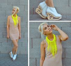 Neon & Nude (by Amanda Shoemaker) http://lookbook.nu/look/3506871-Neon-Nude