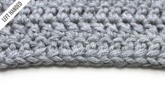 Improve your crochet with New Stitch A Day! The Foundation Double Crochet (FDC):: Crochet Technique :: Left Handed