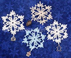 Charmed Snowflakes - crochet pattern