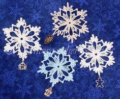 Charmed Snowflake - free crochet pattern from Snowcatcher.