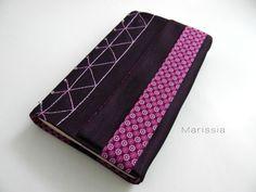 Protège-livre grand format fait main violet : Autres papeterie par marissia