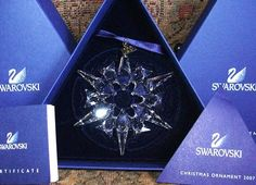 Stunning Swarovski 2007 Annual Snowflake ornament. This gorgeous ornament comes to you Brand New in box complete with outer box, certificate, and swar