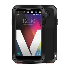 9d6bf59c116 [$15.64]LOVE MEI for LG V20 Professional and Powerful Dustproof Shockproof  Anti-slip Metal + Silicone Combination Case(Black)