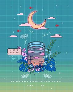"""SeerLight 🌙✨ on Twitter: """"'Twilight Tea' 🌙🍵✨ Do you like your tea with or without stars? ✨… """" Cute Anime Wallpaper, Cute Wallpaper Backgrounds, Cartoon Wallpaper, Cute Wallpapers, Wallpaper Doodle, Cute Pastel Wallpaper, Drawing Wallpaper, Art Kawaii, Arte Do Kawaii"""