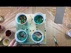 ( 290 ) 4 cup rust turquoise and a swipe - YouTube