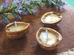 Items similar to Walnut Shell Candles Floating Votives Fairy Lights on Etsy Shell Candles, Floating Candles, Diy Candles, Candle Lamp, Tealight Candle Holders, Luau, Just Natural Products, Organic Candles, Diwali Diy