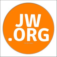 Jw.org orange white Cufflinks 20mm customize with your by boloties