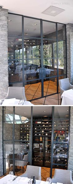 by: Simply Steel Metal Fashion, Black Metal, Divider, Restaurant, Steel, Room, House, Inspiration, Furniture