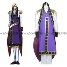 Code Geass R2 Schneizel El Britannia Party Anime Clothing Uniform Cosplay Costume Blue Full Set Women's Costumes