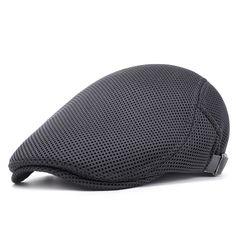 Summer Homme Respirant Maille Ivy Cap Béret Newsboy Hat Cap Taxi FlatCap