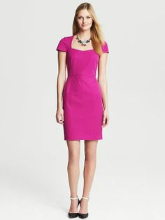 Banana Republic Sloan dress - just ordered this in black! Perfect dress for the office and happy hour