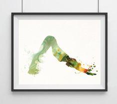 Yoga Watercolor painting Yoga pose print Yoga by Unbreakabubble