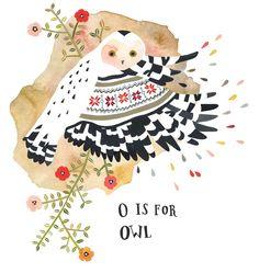 Rebekka Seale illustration, alphabet series