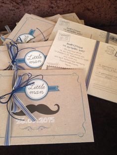 Little man Invitation for Baby Boy