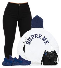 """Untitled #225"" by bestnightmaree ❤ liked on Polyvore featuring Champion, NIKE, MICHAEL Michael Kors and Azalea"